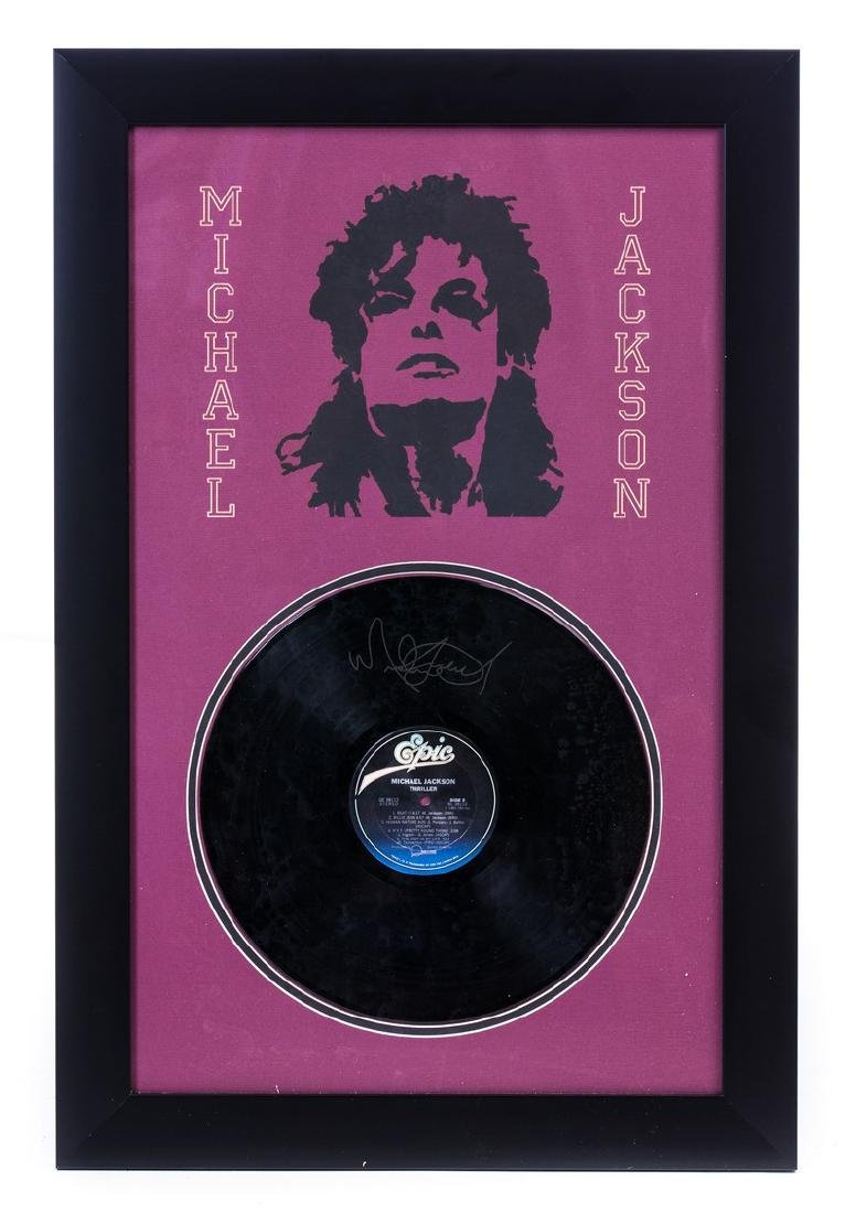 MICHAEL JACKSON RECORD IN FRAME SIGNED