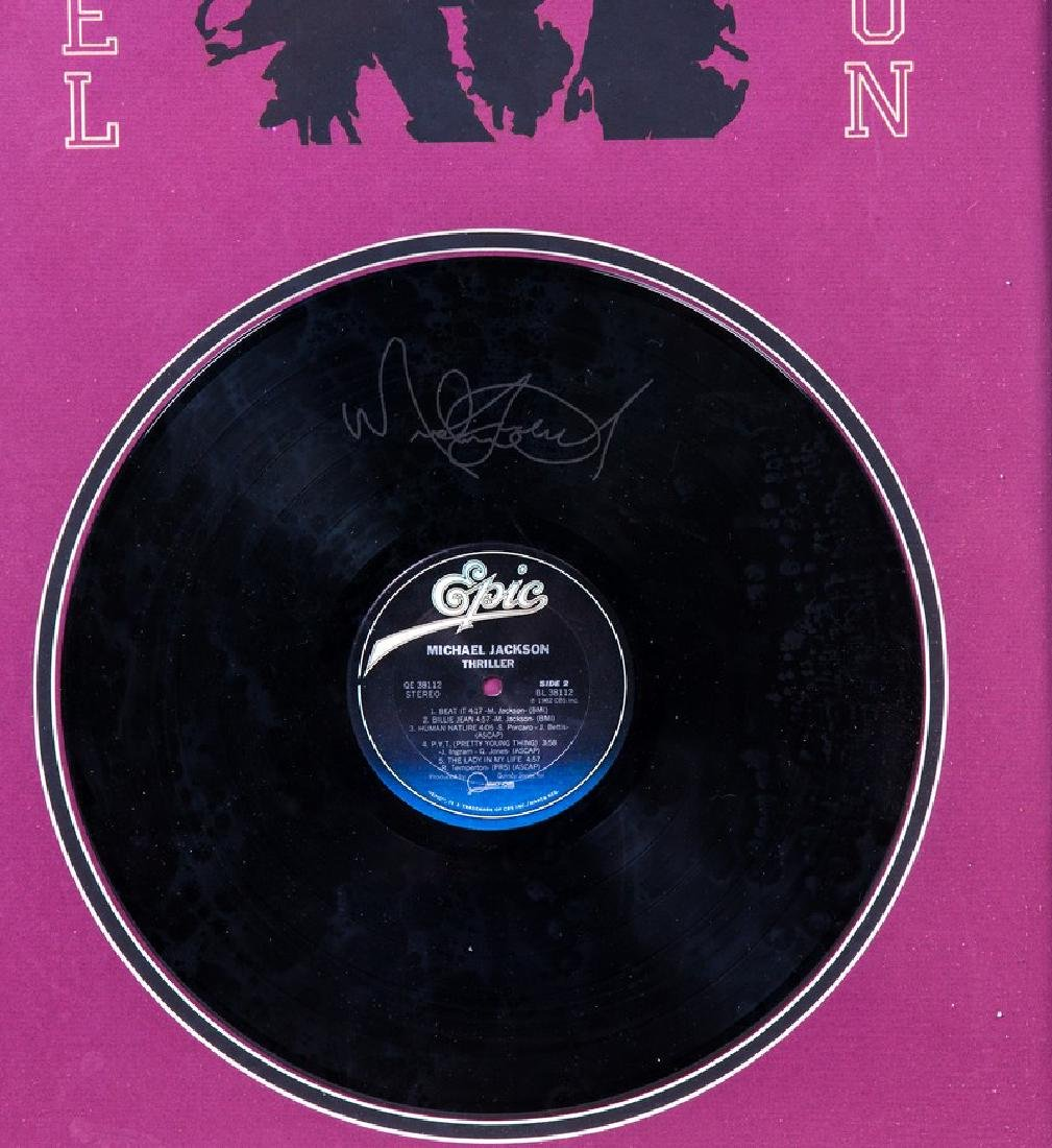 MICHAEL JACKSON RECORD IN FRAME SIGNED - 2