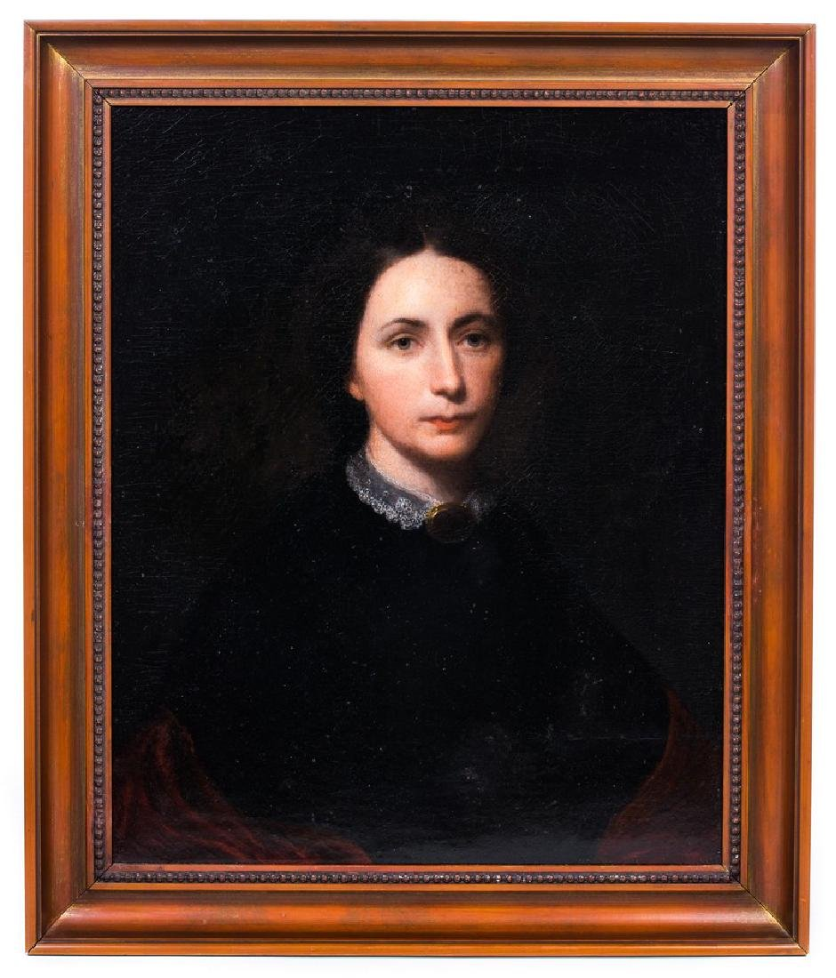 19TH C. OIL PAINTING ON CANVAS OF PORTRAIT