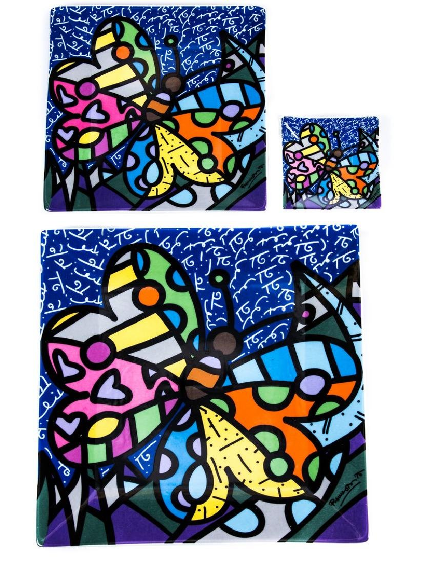 ROMERO BRITTO SET OF 3 DECORATIVE PLATES