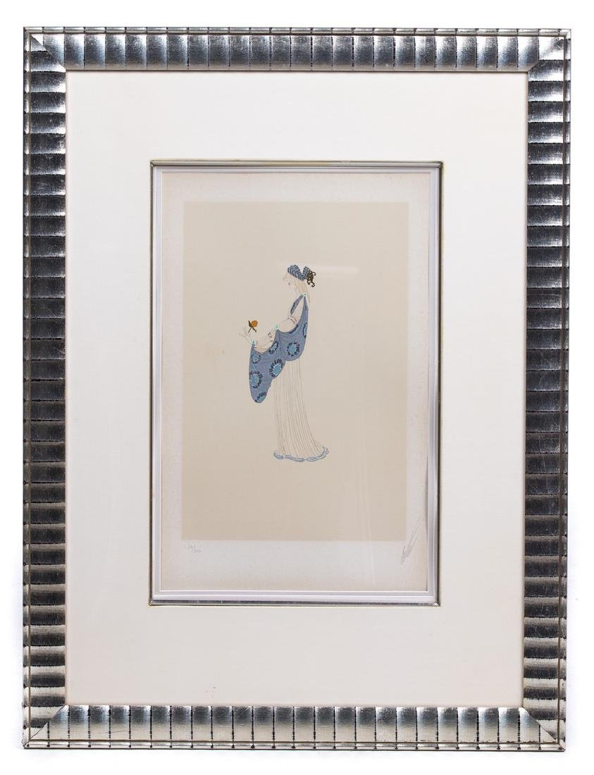 ERTE LADY WITH A ROSE SERIGRAPH