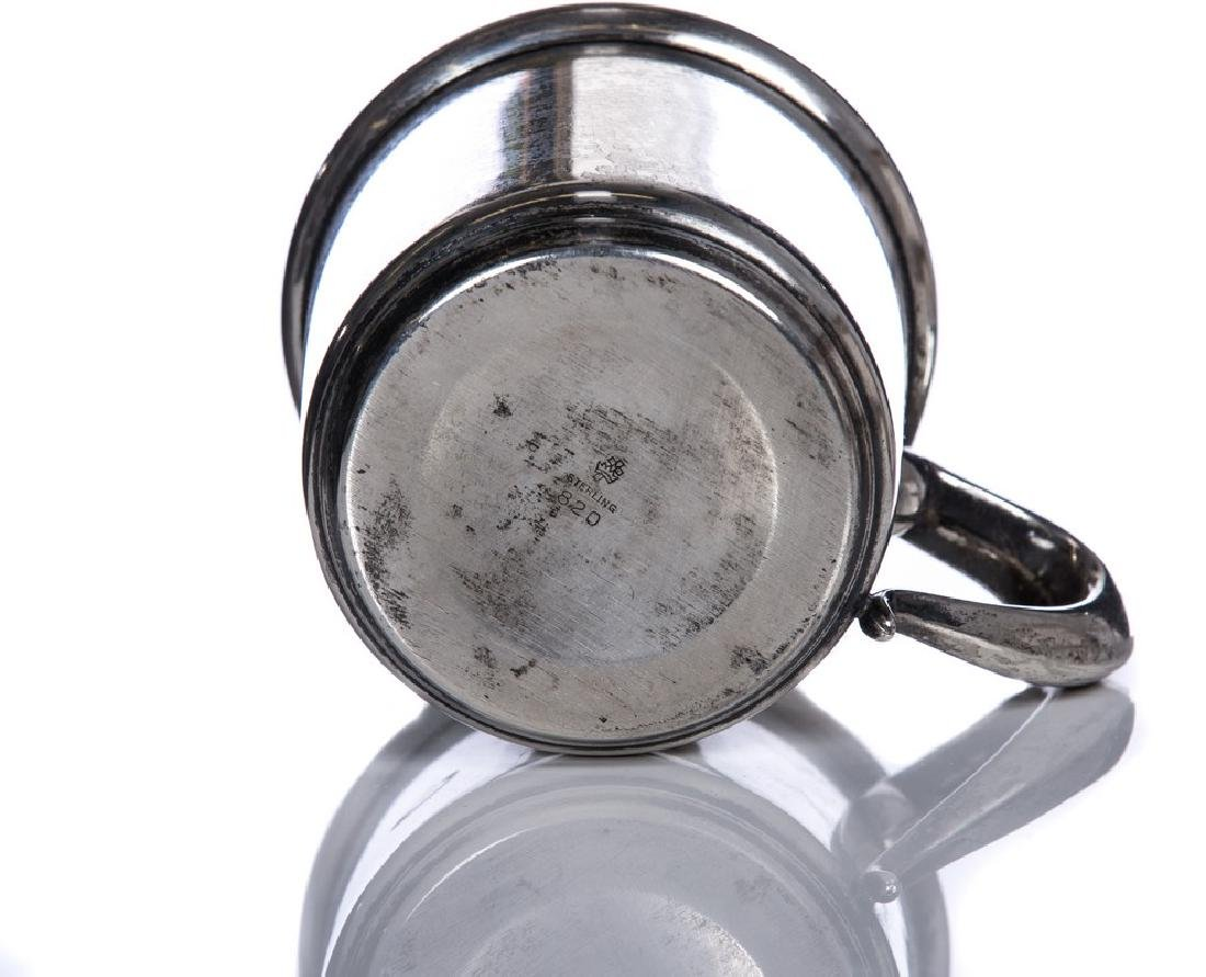 ANTIQUE MANCHESTER STERLING SILVER BABY CUP - 3