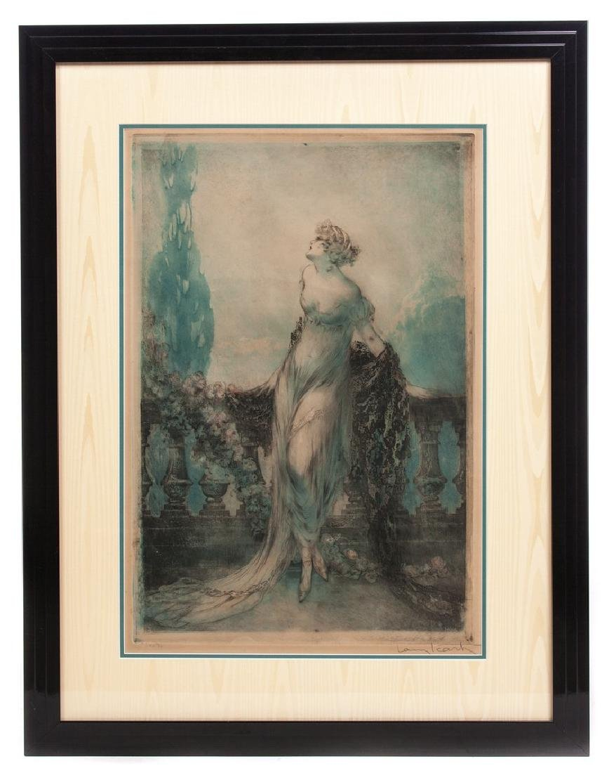 "ANTIQUE LOUIS ICART ETCHING ""1928"""