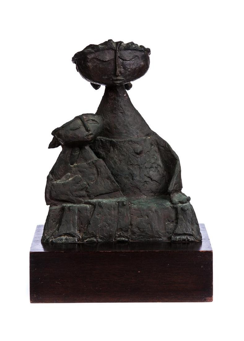 ANGEL BOTELLO (PUERTO RICAN 1913-1986) BRONZE