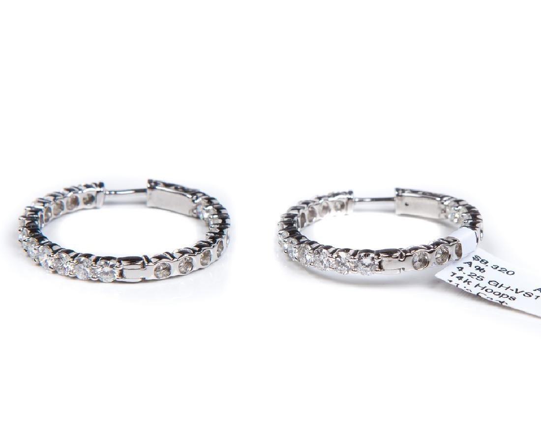 DIAMOND HOOP EARRINGS - 3