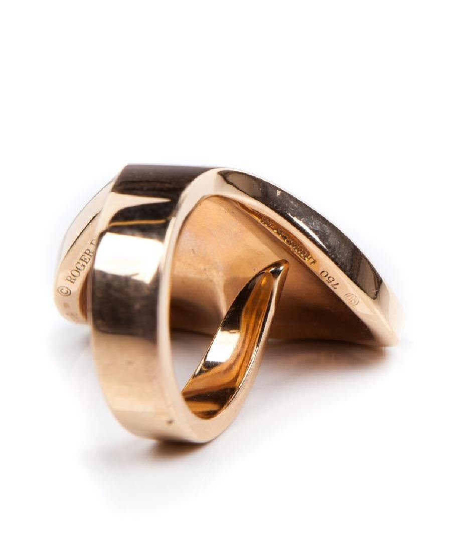 ROBERT DUBUIS 18 KT ROSE GOLD RING - 4