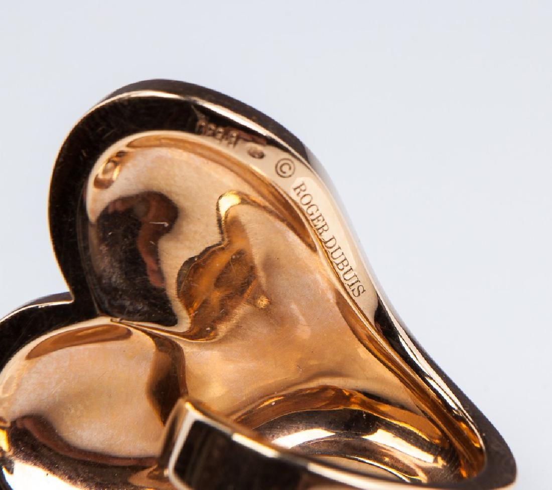 ROBERT DUBUIS 18 KT ROSE GOLD RING - 5