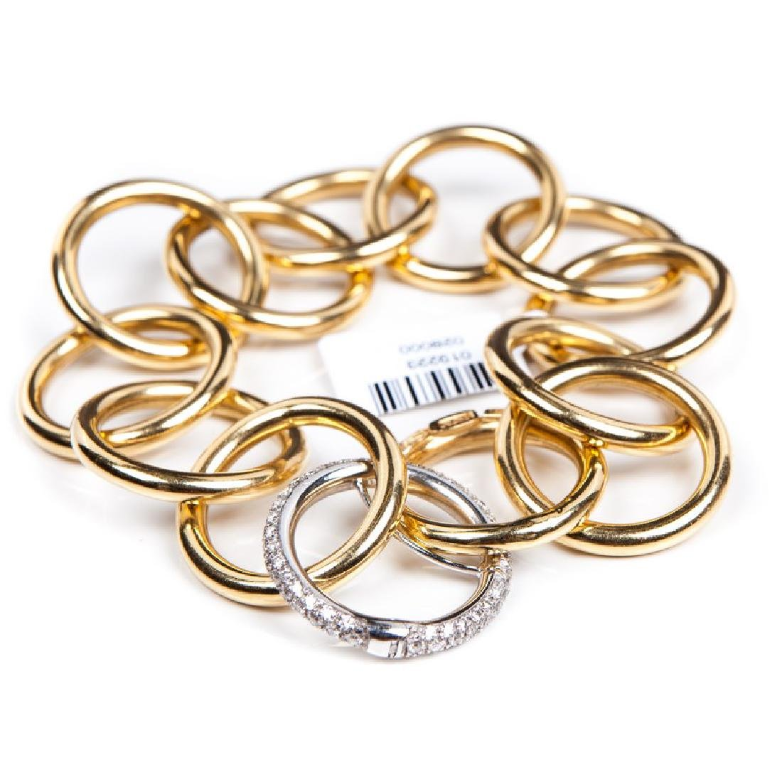 NICOLIS COLA 18 kt YELLOW GOLD & DIAMOND BRACELET