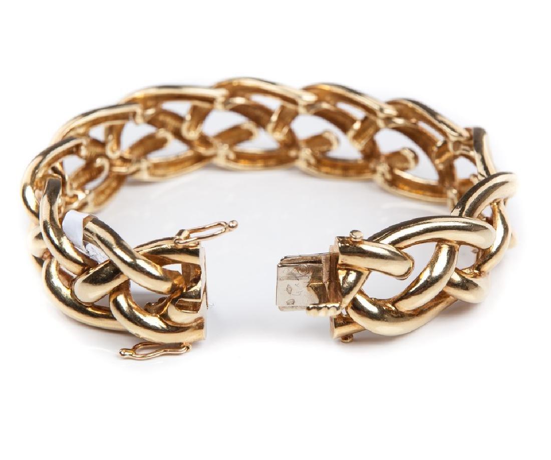TIFFANY YELLOW GOLD BRACELET - 5