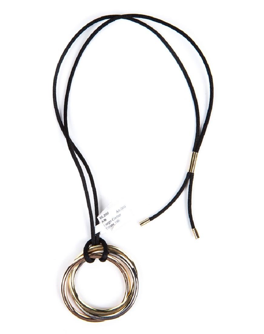 CARTIER TRINITY EXTRA LARGE TRI COLOR NECKLACE