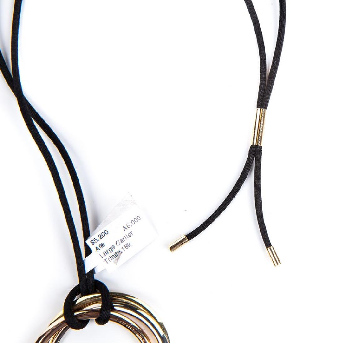 CARTIER TRINITY EXTRA LARGE TRI COLOR NECKLACE - 3