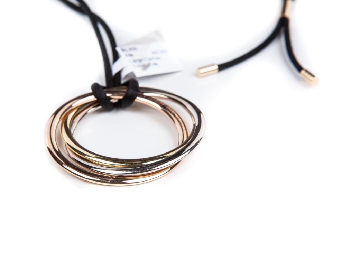 CARTIER TRINITY EXTRA LARGE TRI COLOR NECKLACE - 4