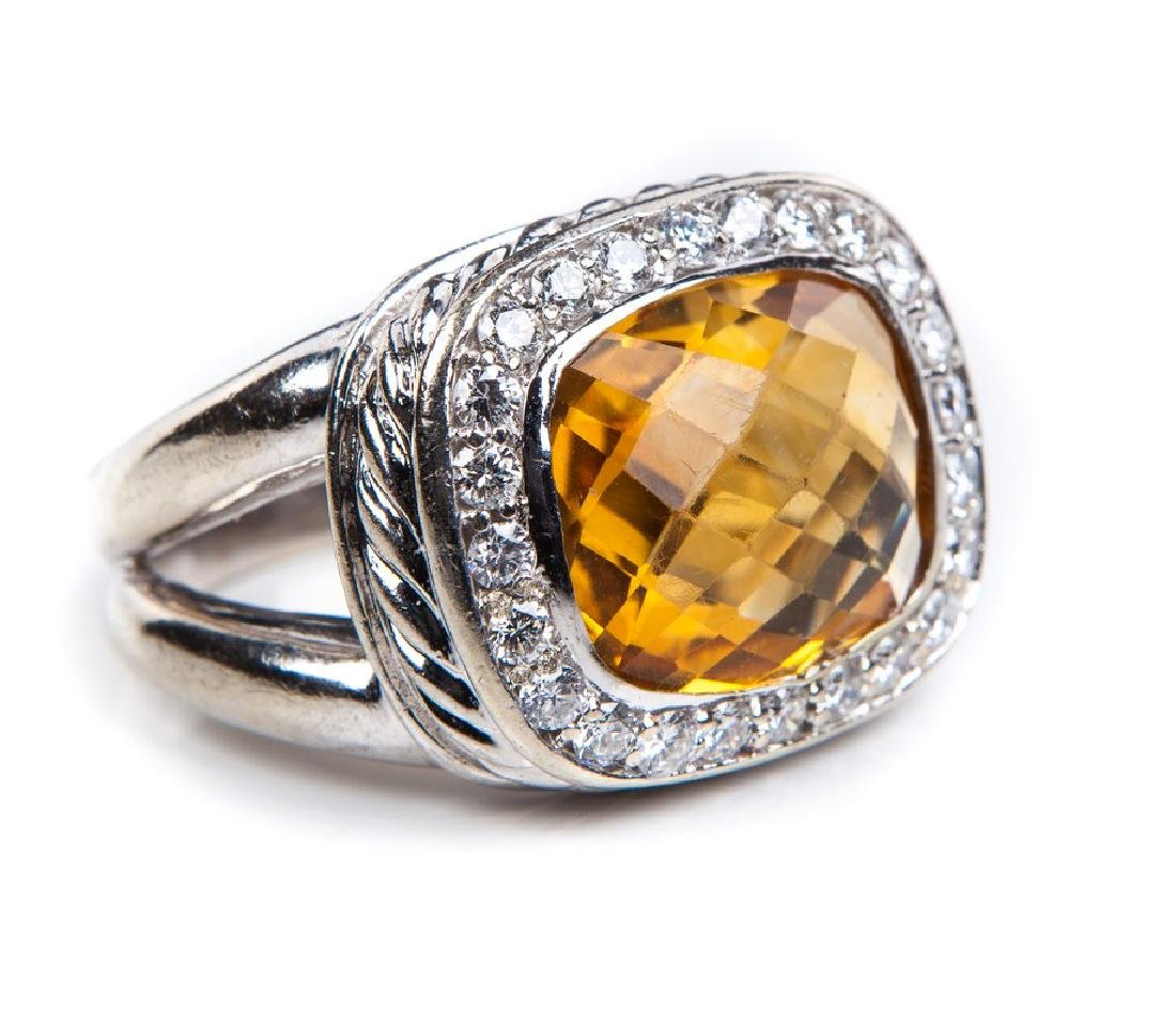 CITRINE AND DIAMOND RING DAVID YURMAN STYLE