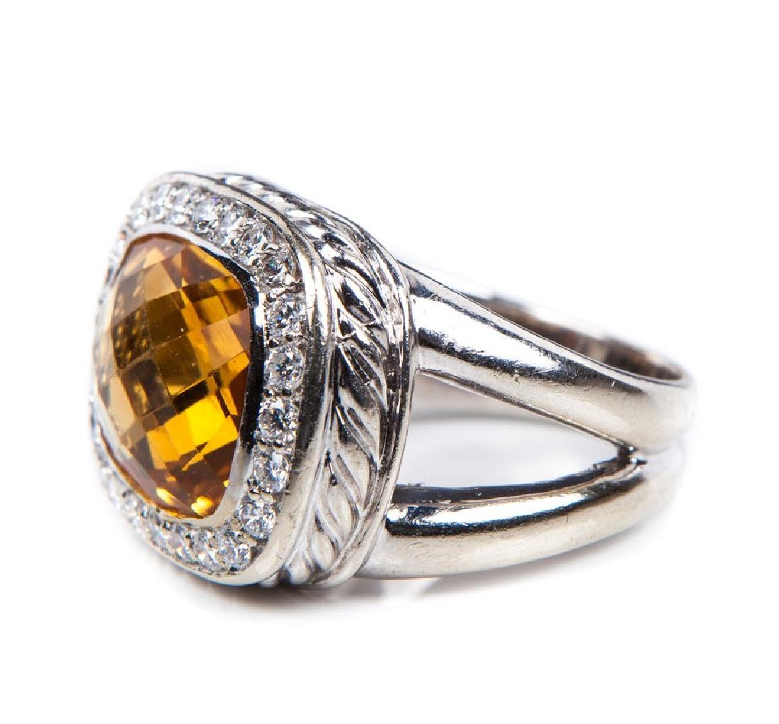 CITRINE AND DIAMOND RING DAVID YURMAN STYLE - 3