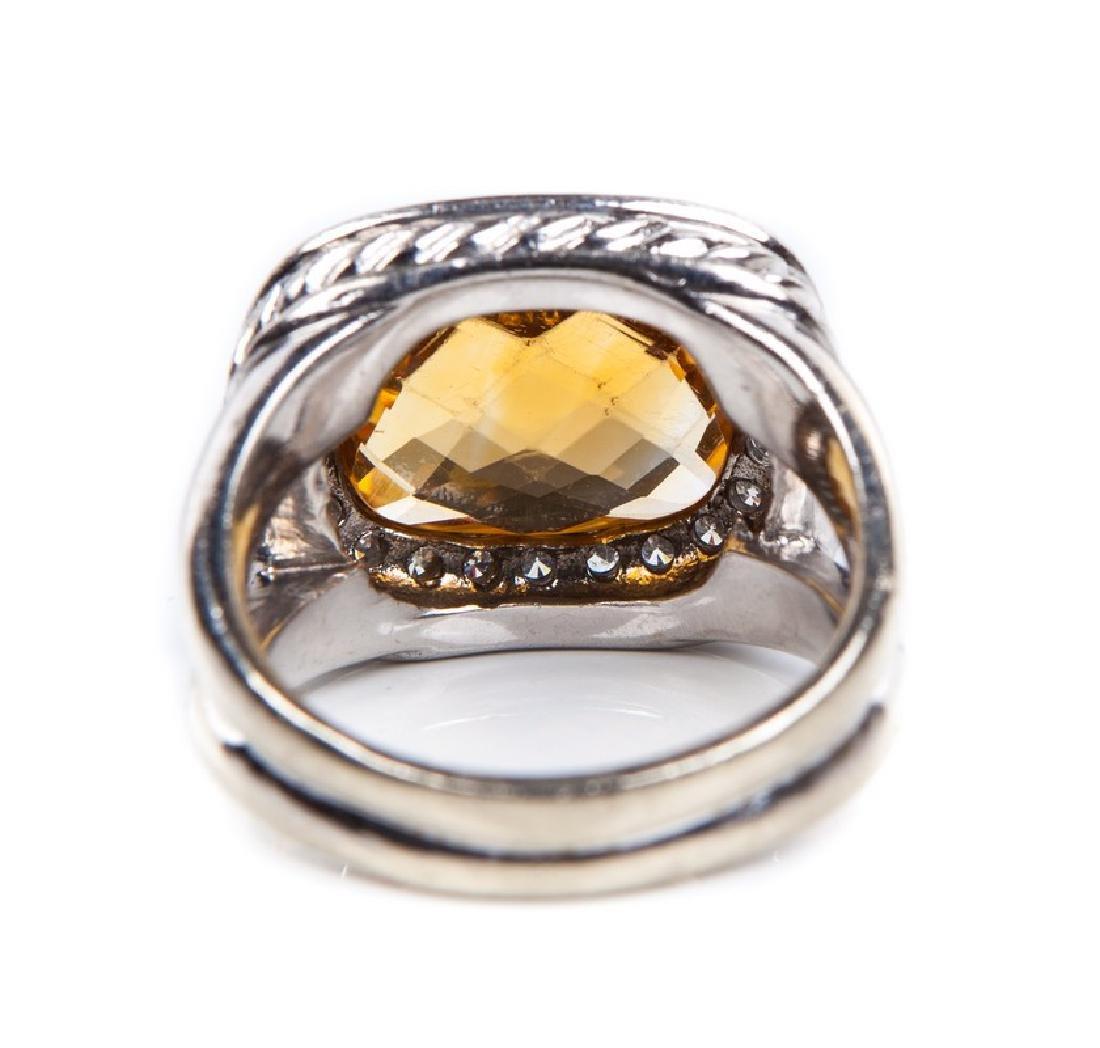 CITRINE AND DIAMOND RING DAVID YURMAN STYLE - 4