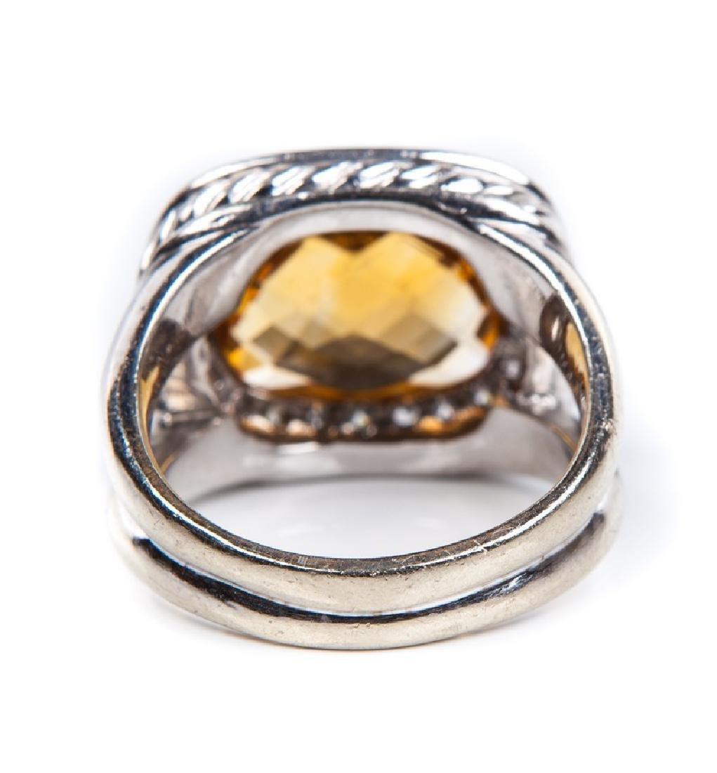 CITRINE AND DIAMOND RING DAVID YURMAN STYLE - 5