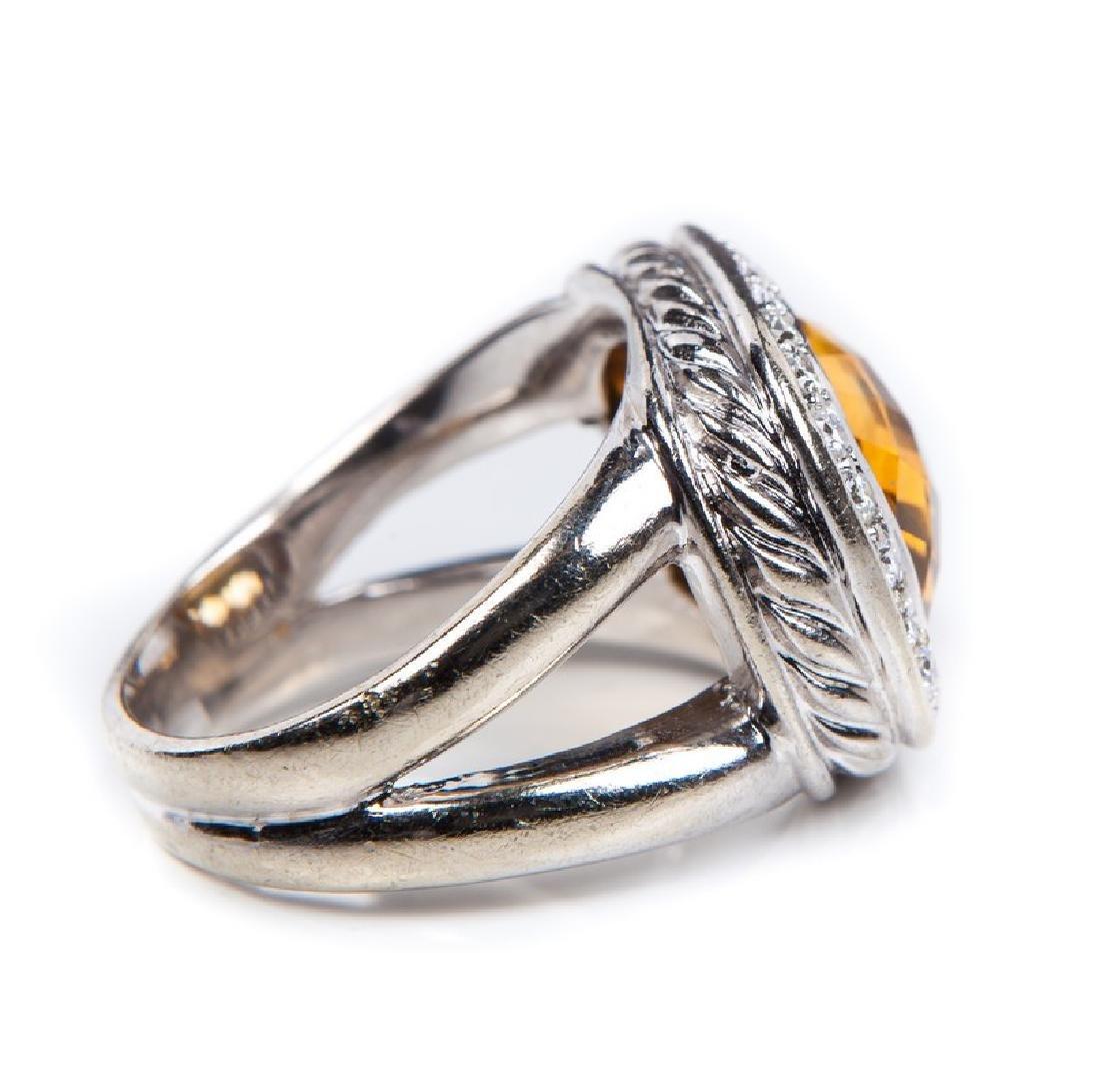 CITRINE AND DIAMOND RING DAVID YURMAN STYLE - 6