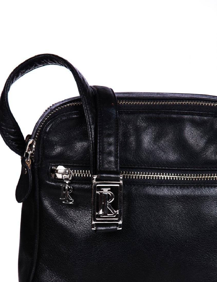 FURLA ITALIAN BLACK LEATHER BAG AND RALPH LAUREN - 3