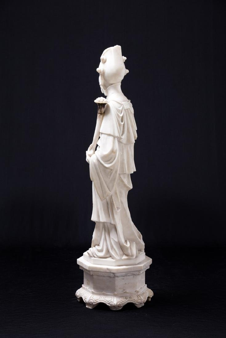 CHINESE ALABASTER FIGURE OF AN ELDER - 4