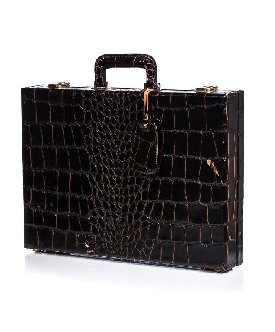 ALLIGATOR / CROC LARGE BRIEFCASE
