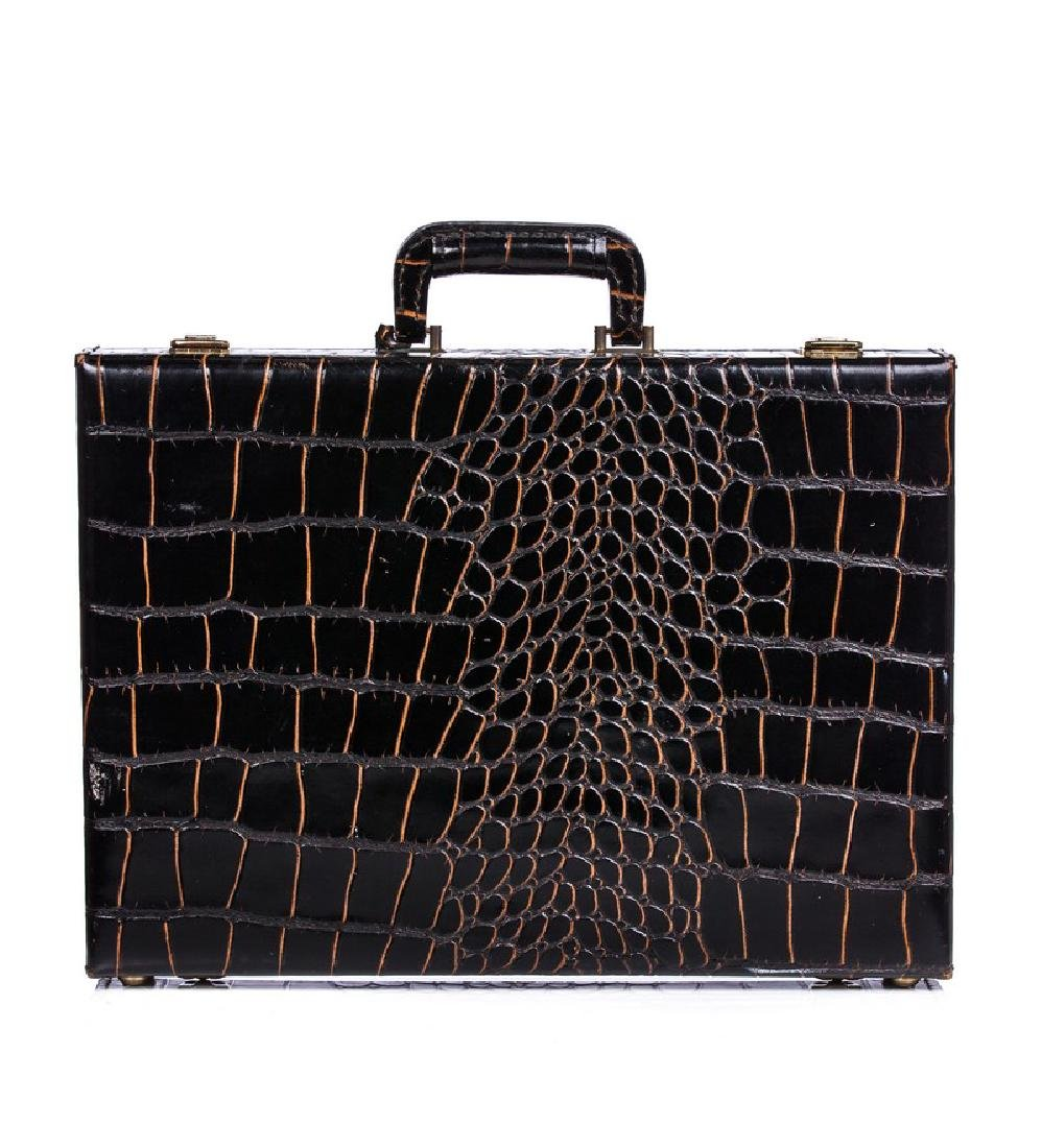 ALLIGATOR / CROC LARGE BRIEFCASE - 2
