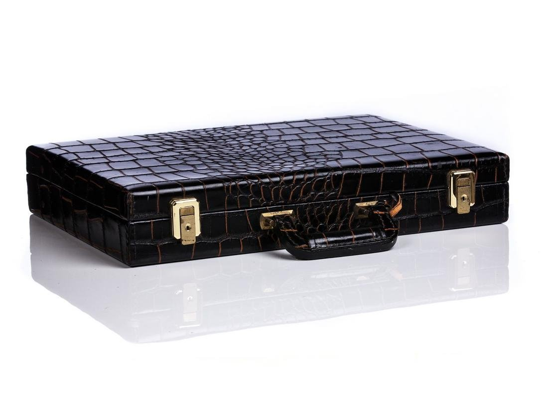 ALLIGATOR / CROC LARGE BRIEFCASE - 5