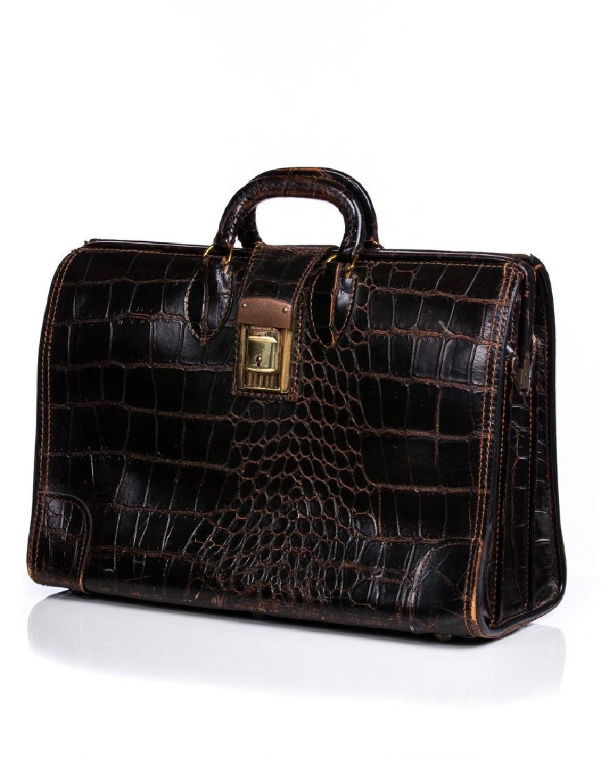 ALLIGATOR OR CROC OVERSIZED BRIEFCASE