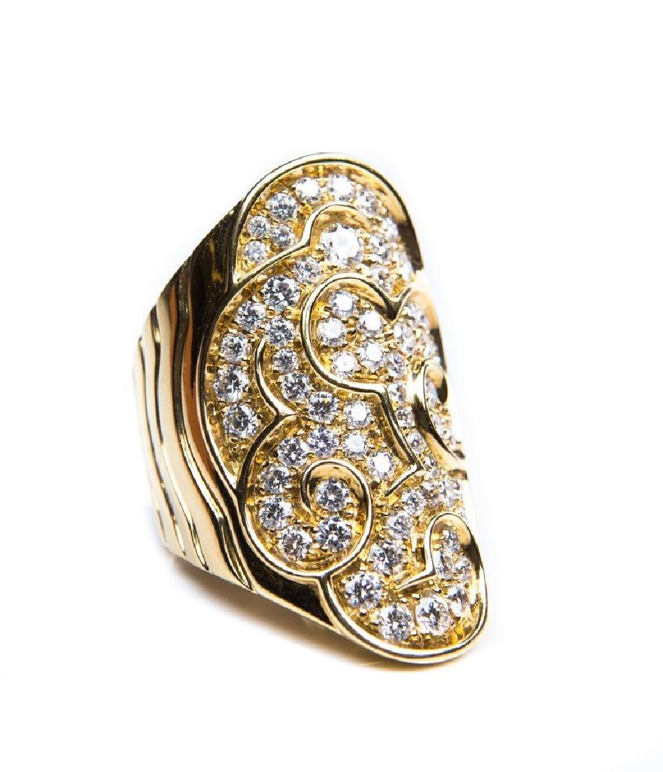 MARINA B 18 KT YG DIAMOND RING