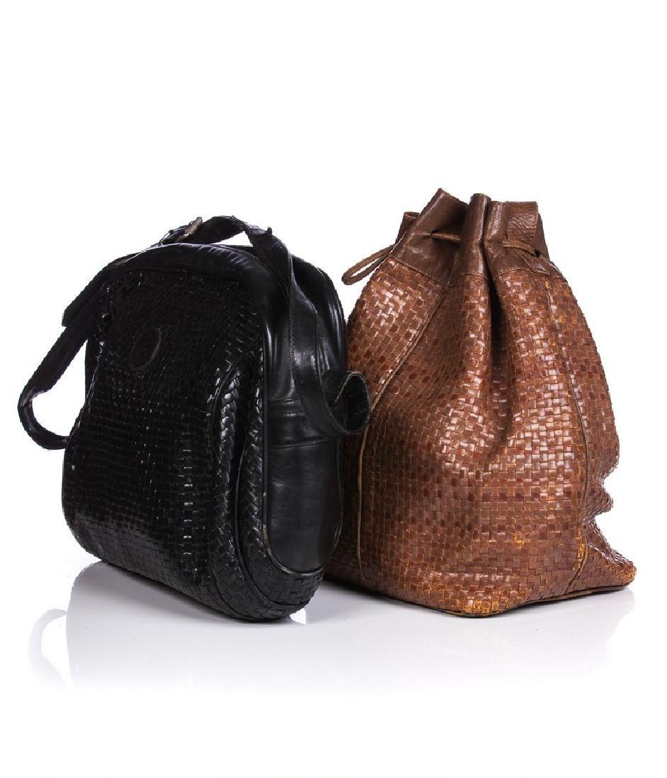 VINTAGE FENDI WOVEN LEATHER BAG