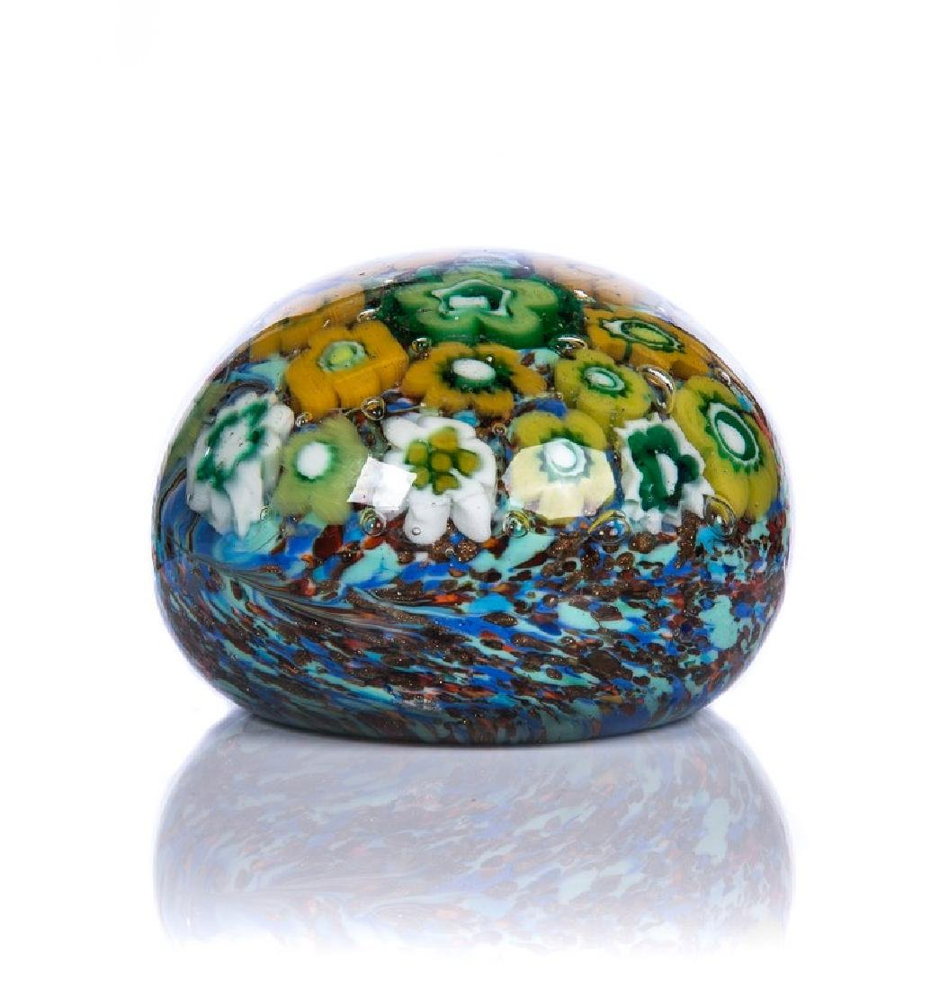 MULTI COLOR GLASS PAPERWEIGHT
