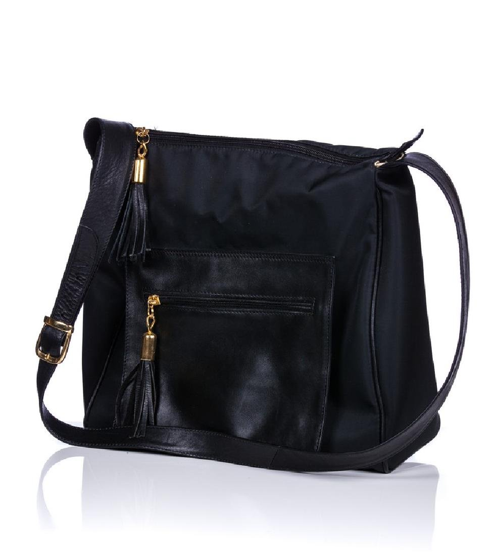 FRANCESCO BIASIA LATHER AND CANVAS BAG