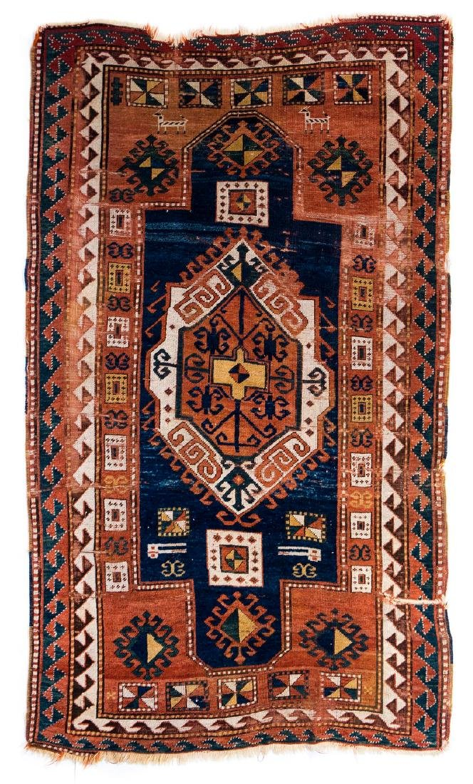 ANTIQUE PERSIAN HAND MADE RUG (AS IS)