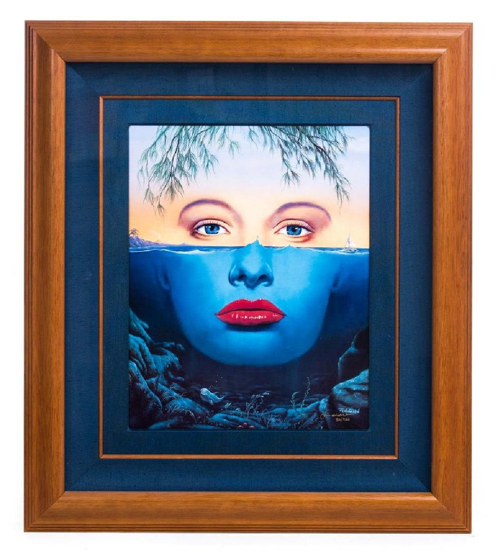 """JIM WARREN """"ISLAND GIRL"""" PRINT 80/950"""