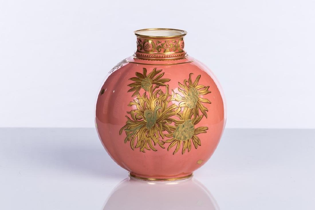 ROYAL CROWN DERBY PINK VASE