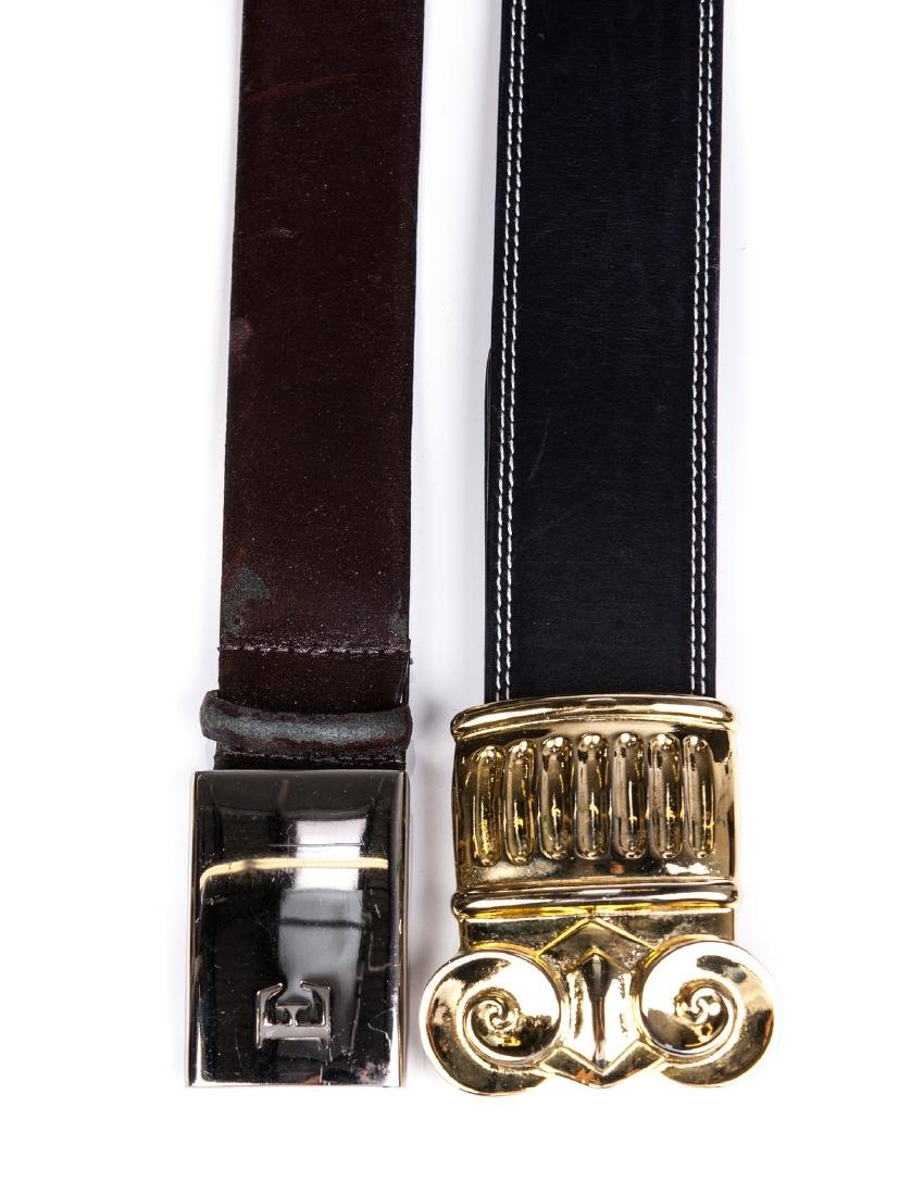 ESCADA  AND ELLEN TRACY LEATHER BELTS