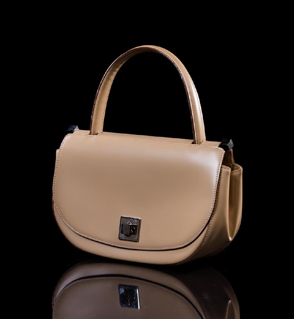 MOSCHINO NEW BEIGE LEATHER BAG