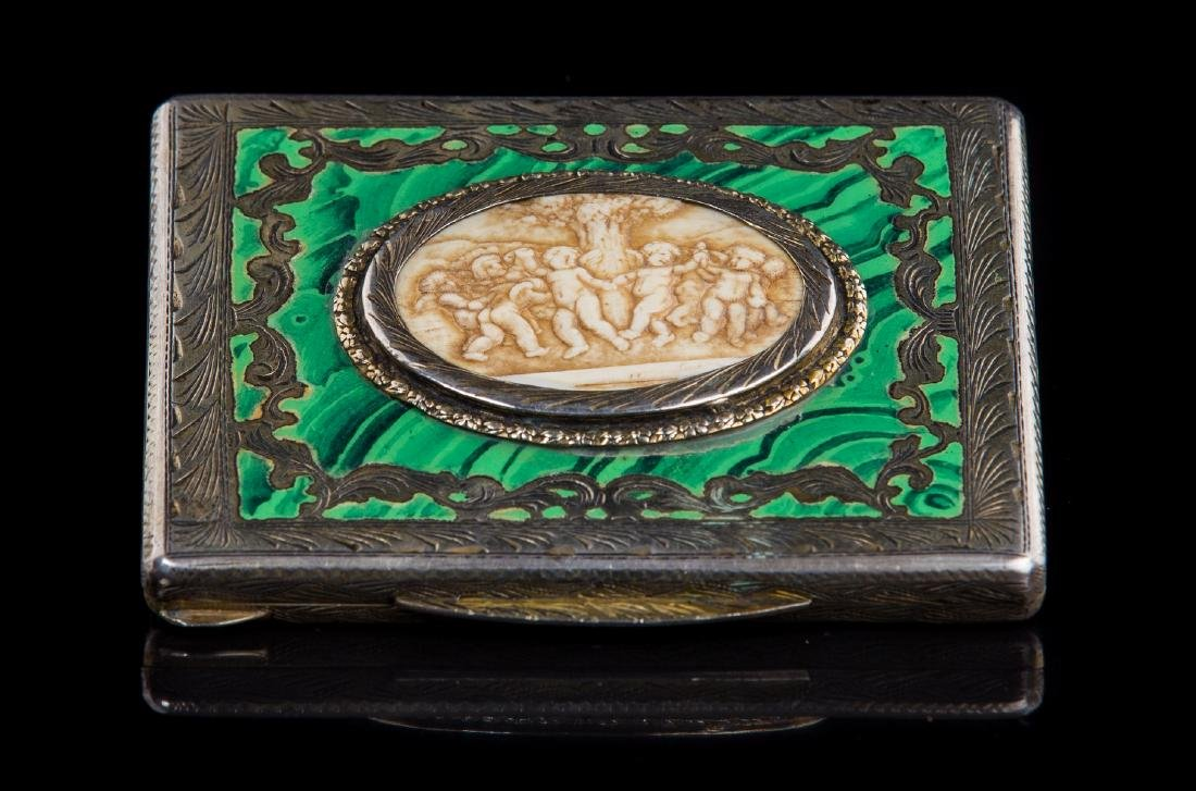 ANTIQUE SILVER AND ENAMEL COMPACTS