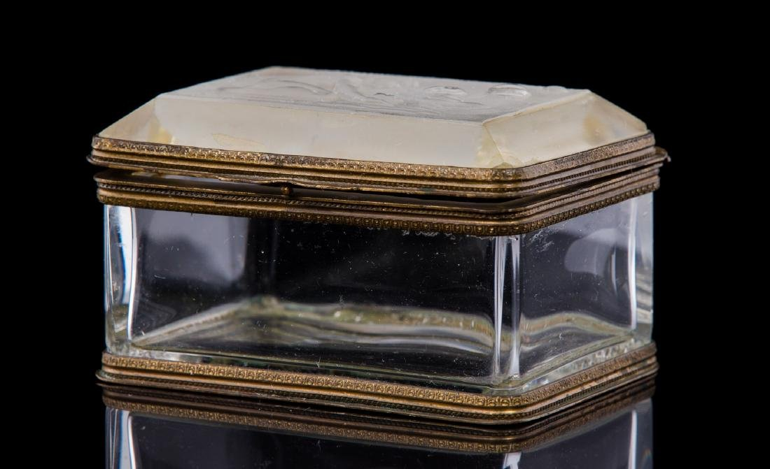 FRENCH FROSTED AND MOLDED CRYSTAL BOX