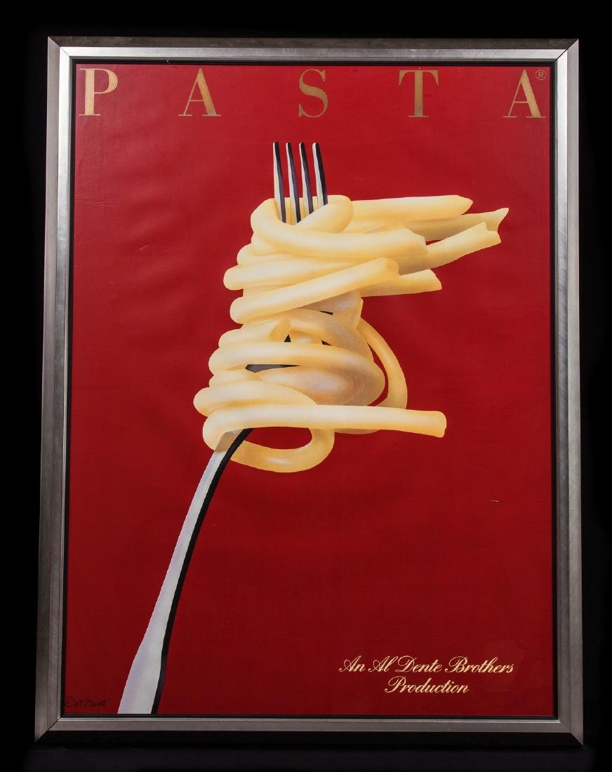 "ADVERTISING POSTER ""PASTA  AL DENTE"""