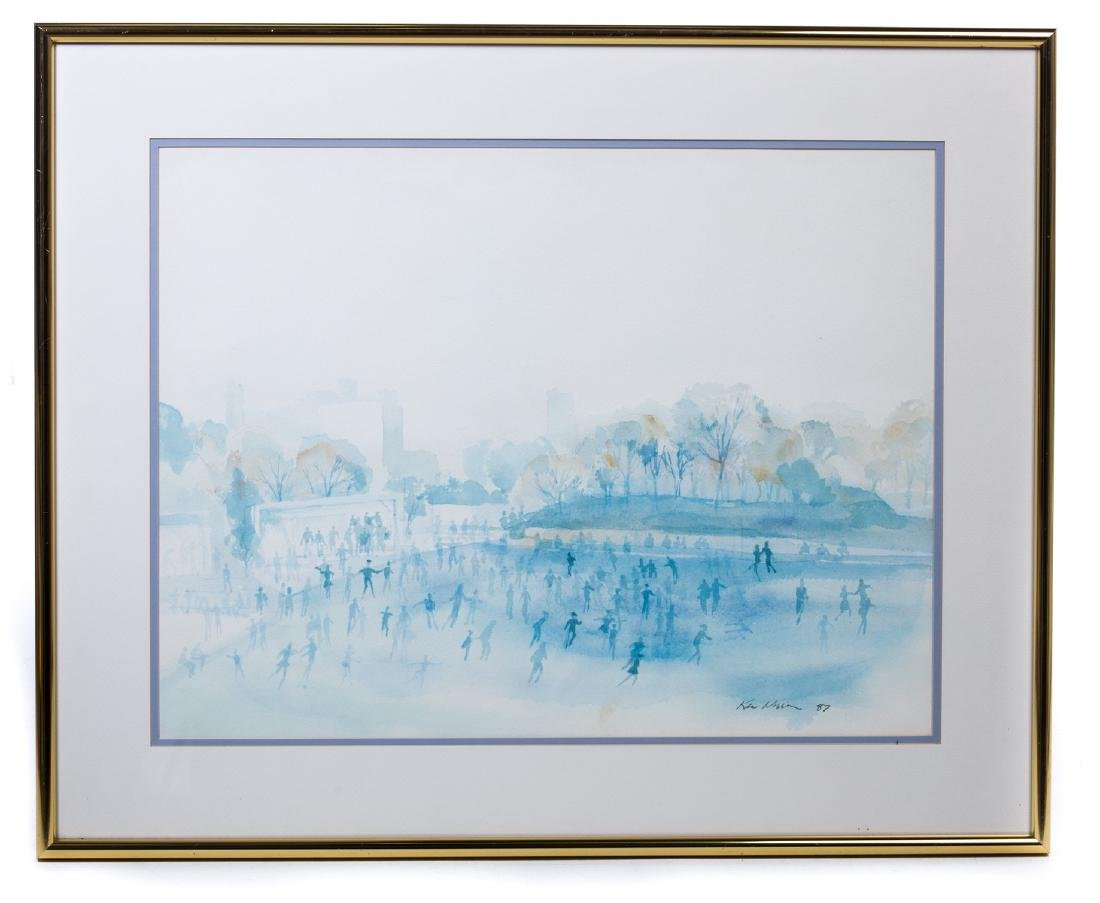 "WATERCOLOR ""CENTRAL PARK"" SIGNED"