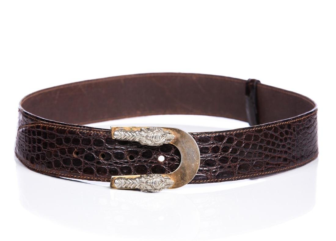 VINTAGE CROC BROWN BELT