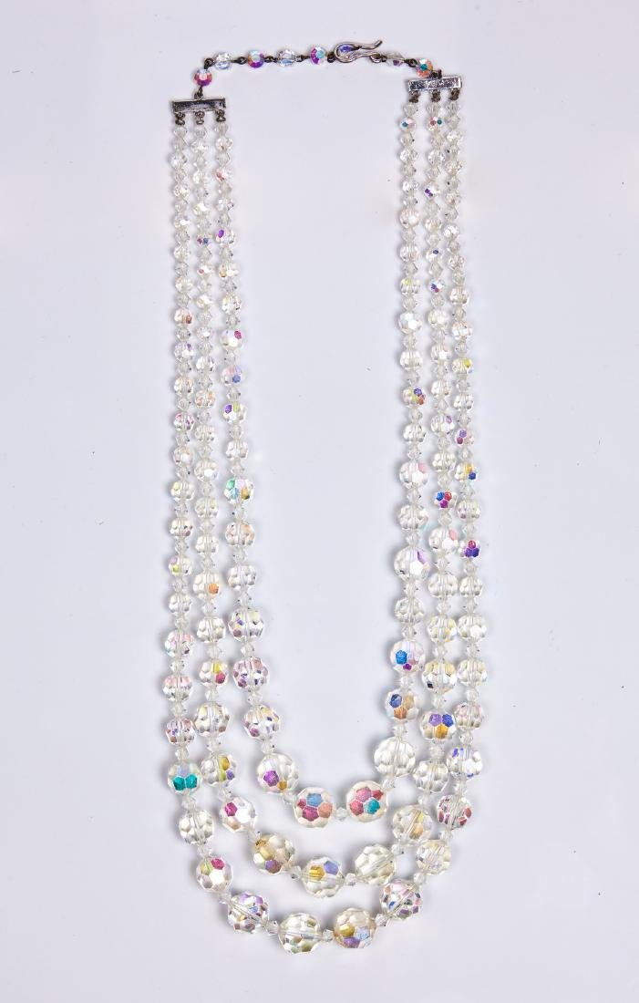 SWAROVSKI TRIPLE STRAND NECKLACE