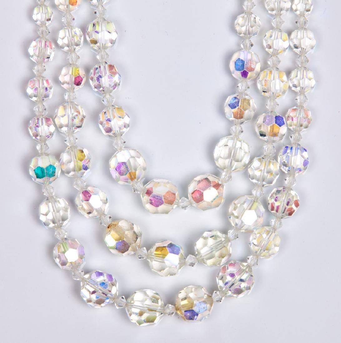SWAROVSKI TRIPLE STRAND NECKLACE - 2
