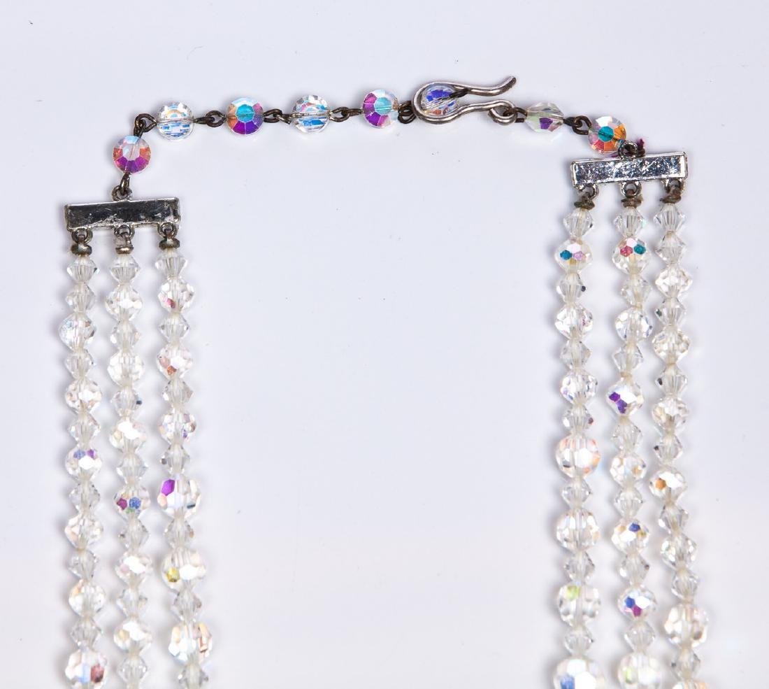 SWAROVSKI TRIPLE STRAND NECKLACE - 3