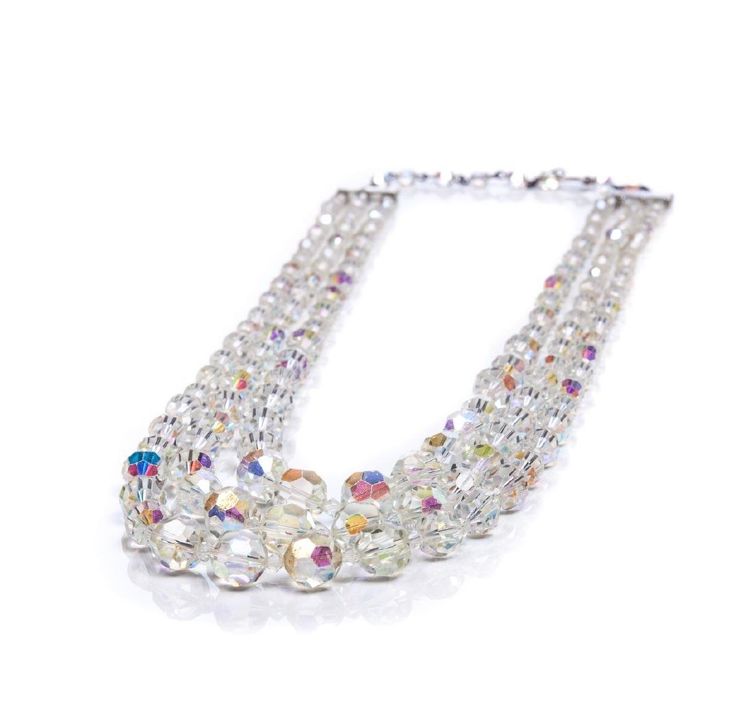 SWAROVSKI TRIPLE STRAND NECKLACE - 4