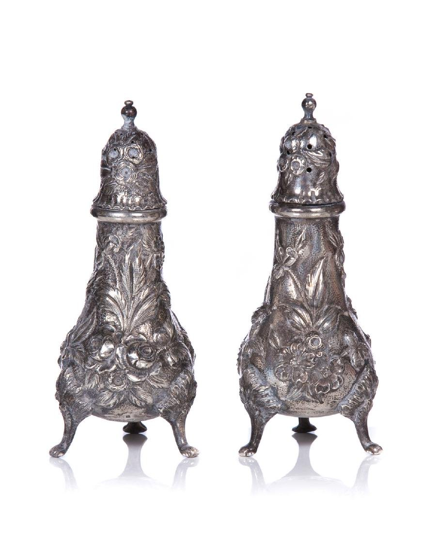 KIRK AND SONS STERLING SALT AND PEPPER SHAKER