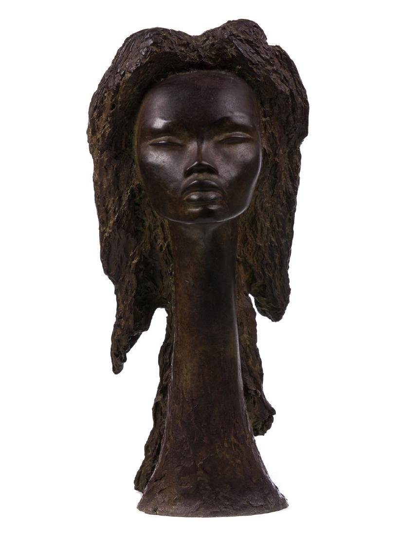 ANGEL BOTELLO (PR 1913 - 1986) BRONZE SCULPTURE