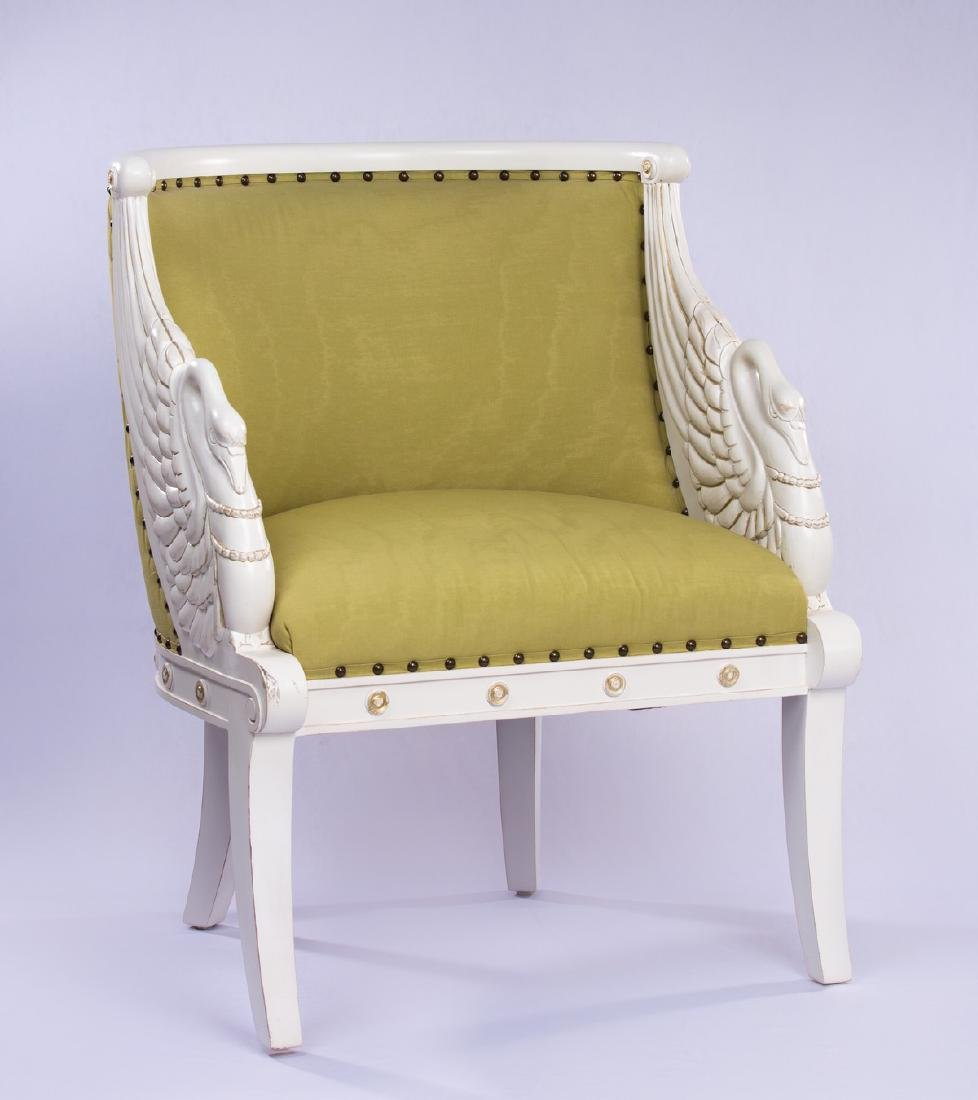 FIGURAL SWAN UPHOLSTERED CHAIR