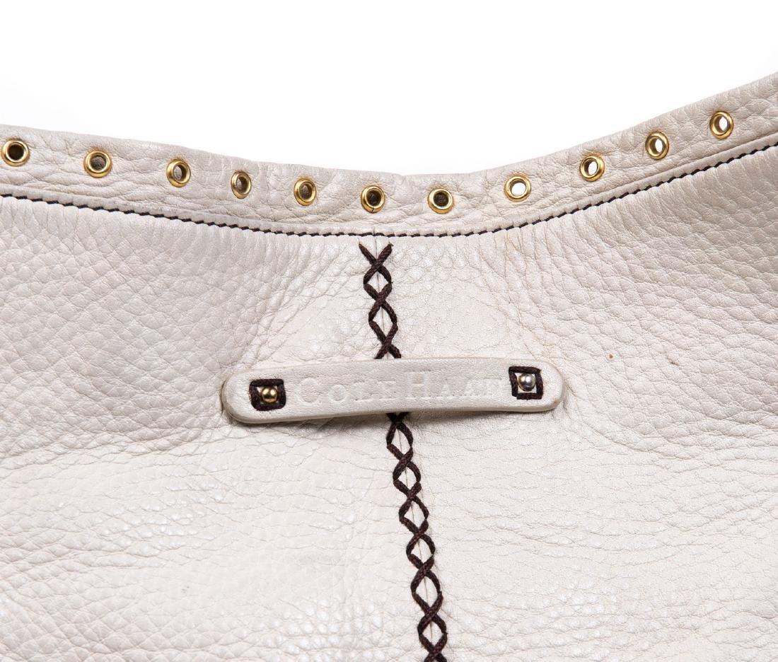 COLE HAAN BEIGE LEATHER PURSE - 3