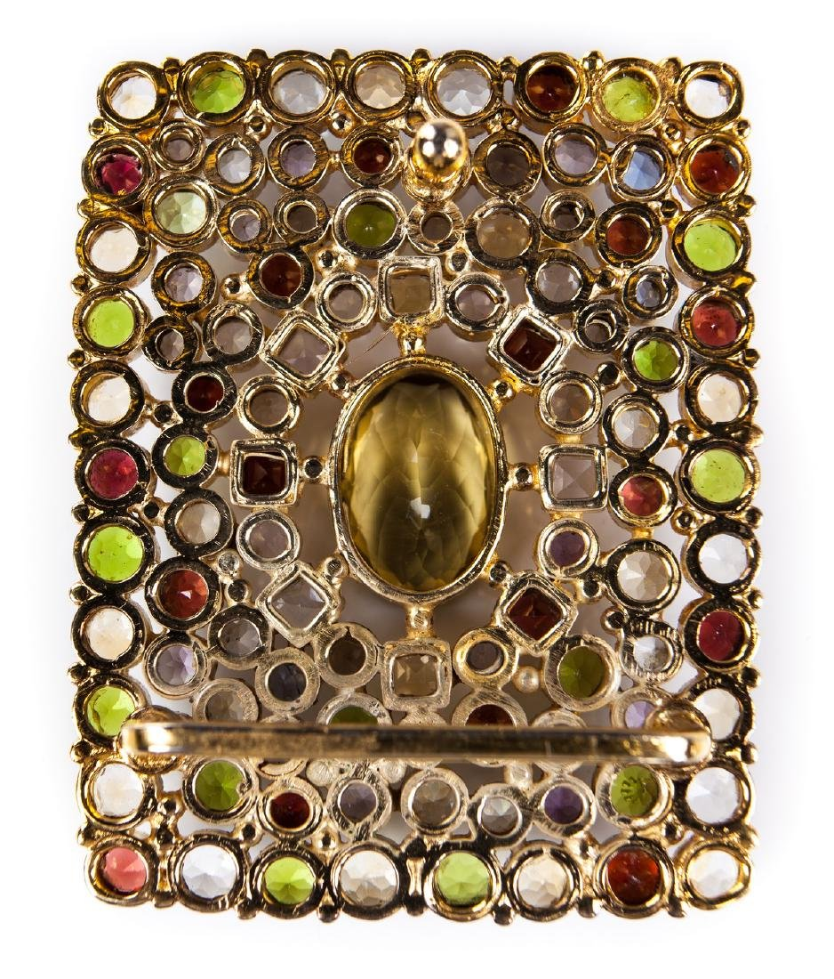 GEM STONE BUCKLE IN GOLD PLATED METAL - 2